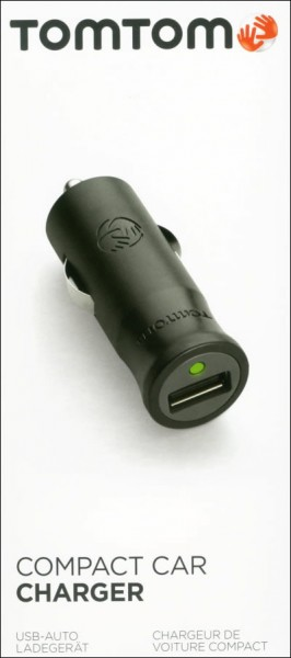 TomTom  Compacte auto-oplader Micro + Mini USB voor TomTom TRUCKER 5000